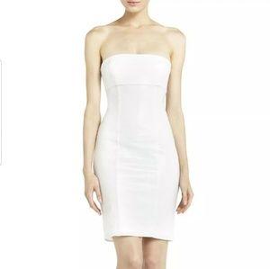 BCBG white sequin strapless dress